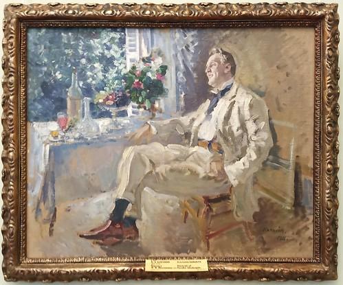 Konstantín Korovin: 'Retrato de Fedor Chaliapin'; . Museo Ruso. San Petersburgo. Rusia
