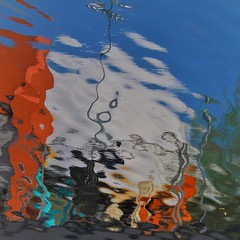 Under the Sea (2n2907) Tags: abstract reflection water color colorful square distortion