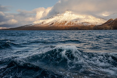 From Clouds and Water (cezary.morga) Tags: landscape nature svalbard spitsbergen arctic mountains mountain water sea wave waves clouds snow sky