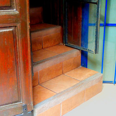 steps and shutters (msdonnalee) Tags: stairs tilestairs steps escalera escalier escala escada photosbydonnacleveland photosfromsanmigueldeallende inspiredchoice