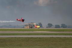 The Race (csnyder103) Tags: plane truck race jet prop oshkosh airshow eea canoneosm5 canonefm18150