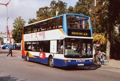 Stagecoach East Cambus . 17691 X701JVV . Cambridge . September-2007 . (AndrewHA's) Tags: cambridge bus stagecoach cambus 17691 x701jvv route 13 haverhill dennis trident plaxton president