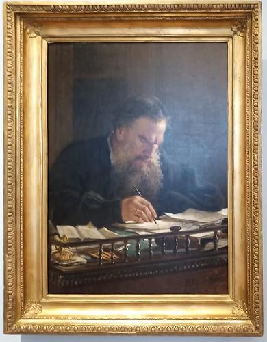 Nikolai Ge: 'Retrato de Leon Tolstoi', 1884. Museo Ruso.  San Petersburgo. Rusia