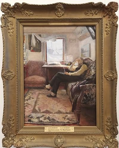 Vasily Meshkov: 'El pintor ciego'; 1898. Museo Ruso. San Petersburgo. Rusia