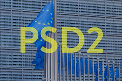 European flags with yellow PSD2 text (wuestenigel) Tags: flag credit september banking paymentservicesdirective2 technology regulation europeanunion card business 14th connection payment electronic services mtan transaction financial eu european brussels tan comerce psd2 buy directive bank digital finance computer law online paymentservicesdirective ecommerce authority money concept paying internet customer pin pay security 2019 2020 2021 2022 2023 2024 2025 2026 2027