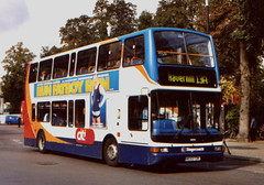 Stagecoach Cambus . 18058 AE53TZK . Cambridge . September-2007 . (AndrewHA's) Tags: cambridge bus stagecoach cambus transbus dennis trident plaxton president 18058 ae53tzk route 13a haverhill