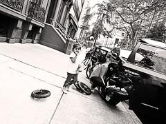 Tired (kirstiecat) Tags: philly child kid daughter mother street monochrome pennsylvania usa america blackandwhite noiretblanc monochromemonday tires philadelphia