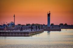 Not alone... (KWPashuk (Thanks for >3M views)) Tags: nikon d7200 tamron tamron18400mm lightroom luminar luminar2018 luminar3 luminar31 kwpashuk kevinpashuk morning dawn fishermen fishing sunrise lighthouse bronte creek oakville ontario canada lake