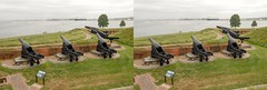 Guns on display at Fort McHenry in Baltimore. (Bill A) Tags: stereo3d warof1812 stereoscopic baltimore parallelview stereoscopic3d fortmchenry