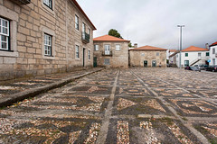 """Pebble Design _7743 (hkoons) Tags: iberianpeninsula sabugal castle""""cobble stonestreet view city europe portugal antiquity architecture asphalt avenue buildings gravel highway historic history old outdoors path road stone street town village"""