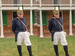 War of 1812 re-enactor at Fort McHenry in Baltimore. (Bill A) Tags: stereo3d warof1812 stereoscopic defendersday defendersday2019 baltimore parallelview stereoscopic3d fortmchenry