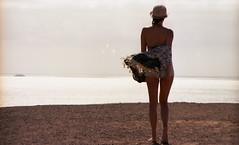 LANZAROTE (gabrielealbanesi) Tags: lanzarote kodak ektar asahi pentax spotmatic takumar desert girl windy
