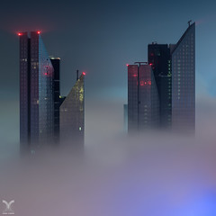 The Dark Towers (DanielKHC) Tags: uae dubai fog centralparktowers dar towers cityscape nikon d850