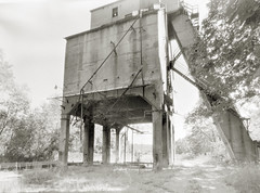 Clifton Forge Coaling Tower (efo) Tags: bw film xray cliftonforge abandoned coalingtower relic railroad train rr anniversarygraphic graflex speedgraphic schneider angulon65mmf8 largeformat 4x5 virginia