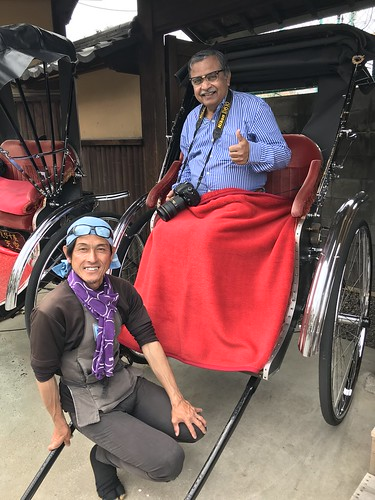 My second human powered rickshaw ride- this time in Kyoto