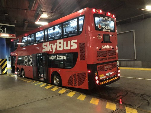Melbourne SkyBus double decker at the Southern Cross Station interchange