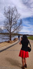 """""""All I need are a skirt and a t-shirt.""""  - A true skirt lover (Shalmalee Kapse) Tags: skirts canberra australia floriade red"""