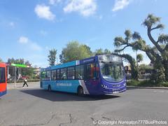 TUI 7934 (MX13AKG) 3803 Arriva Sapphire East in Nuneaton (Nuneaton777 Bus Photos) Tags: arriva sapphire midlands east wright pulsar tui7934 mx13akg 3803 nuneaton