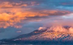 Pink landscape (FVillalpando) Tags: snow pink sun mountain winter clouds fog light ngysa nature