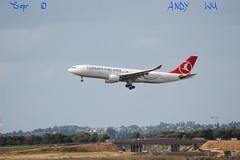 Airbus A330 Turkish Airlines (08/10/2019) (Starkillerspotter) Tags: istanbul turkey turkish airlines airbus a330 landing 27l paris cdg airport bridge tgv