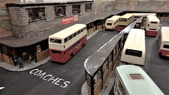 Dewsbury Bus Station in Model Form. (ManOfYorkshire) Tags: dewsbury bus station model duiorama 176 scale oogauge diecast westyorkshire coaches buses worksop road transport show exhibition 2019