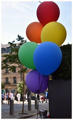 Balloons.....Manchester Pride (joanneharlow70) Tags: manchesterpride manchesterstreetphotography manchester manchesterphotographer streetphotography urbanstreetphotography colourphotography balloons hardrockcafe