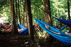 DR5-019-8 (David Swift Photography) Tags: davidswiftphotography pennsylvania philadelphiafolkfestival hammoks festivals forest resting 35mm nikonfm2 kodakektar100 feet
