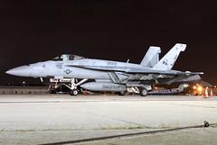 166785 - 9/29/17 (jrf_aviation) Tags: vfa31 vfa31tomcatters tomcatters boeing mcdonnelldouglas fa18 fa18superhornet fa18esuperhornet fa18e f18 f18superhornet f18e f18esuperhornet superhornet flynavy navy usnavy usn katl nightshot aviationphotography militaryaviation military militaryaircraft