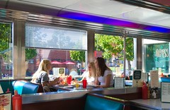 The Girls Hit The Hi-Lo (MPnormaleye) Tags: utata 1950's neon sign window girlfriends pals friends dining eats diner cafe