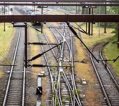 Train tracks (Hans van der Boom) Tags: vacation holiday denmark denemarken jutland kolding train tracks rails metakl lines perpetualwinner
