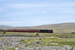 I Wandered Lonely As A Cloud: 45690 (Gerald Nicholl) Tags: 45690 5690 lms jubilee leander steam express train loco locomotive engine yorkshire steamdreams settle carlisle sc ribblesdale cloud excursion