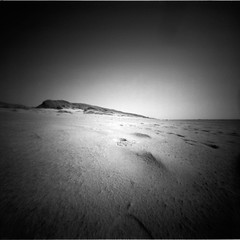 Footprints (Rosenthal Photography) Tags: dänemark ff120 urlaub epsonv800 pinhole mittelformat lochkamera 6x6 realitysosubtle6x6 asa50 ilfordrapidfixer 20190801 ilfordpanfplus analog ilfordlc2912922°c55min footprints coast beach strand landscape dunes sea northsea ocean denmark houvig summer sunshine evening sun august realitysosubtle rss 205mm f137 ilford pan panf panfplus lc29 129 rapid fixer 14 epson v800