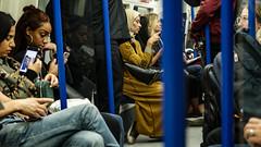 Fellow travellers (PChamaeleoMH) Tags: people train travel tube underground