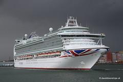 Ship. Azura 9424883 (dickodt65) Tags: ship southampton cruise cruiseship po azura storm sky