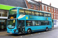 Not in Service at Colchester (Chris Baines) Tags: arriva vdl db300 wright gemini 2 mx61 axv colchester