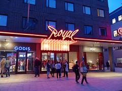 P1210646 (Yohan N) Tags: uppsala cinema theater sweden neon night nighttime time city street blue purple red dark entertainment