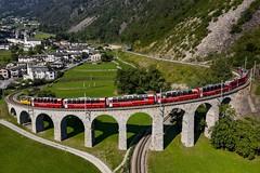 Rhätische Bahn - Brusio Viadukt (Schneidersphotography) Tags: train trains rhätische rhätischebahn bahn zug züge unesco welterbe graubünden poschavio brusio viadukt brücke alpen alps schweiz switzerland valposchavio eisenbahn europa europe