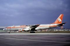 XA-SID_1974-02-02_MUC_1200_HS (stefanmuc2001) Tags: xasid guanajuato dc8 dc851 douglasdc8 mcdonnelldouglas aeromexico aeroméxico airliner jetliner aircraft plane flugzeug 1974 münchen munich riem flughafenriem eddm muc münchenriem munichriem airport flughafen kodachrome slidescan aircraftslide k25