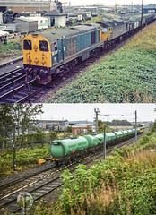 Ayr - then and now (robmcrorie) Tags: 20117 56302 newton ayr shed yard waterside colliery washery dalmellington dunaskin now then 1975 2019 1z10 nikon d850 grangemouth prestwick aviation tanks