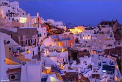 Oia (Luciano Silei - sky7) Tags: oia santorini greece grecia sunset tramonto hdr sky lucianosilei canon6d canon1740mm night longexposure light