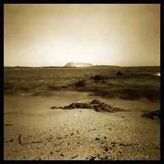 Mars   pinhole (Claudio Taras) Tags: bw bokeh biancoenero shadow sepia santeodoro sardegna sabbia onde mare pinhole longexposure lochcamera claudio contrasto controluce taras 6x6 holga 120 film