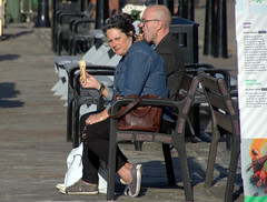 Candid couple at Albert Docks, Liverpool (Tony Worrall) Tags: street streetphotography urban candid people person capture outside outdoors caught photo shoot shot picture captured picturesinthestreet photosofthestreet nw northwest north update place location uk england visit area attraction open stream tour country item greatbritain britain english british gb buy stock sell sale ilobsterit instragram bench seat stare couple