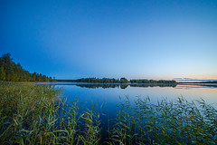 Blue hour (Arttu Uusitalo) Tags: evening sunset dusk blue hour saturday lake lakescape landscape woods twilight north ostrobothnia finland canon eos 5d wideangle september autumn samyang misty fog