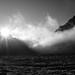 Zonsopkomst op de Glacier Blanc