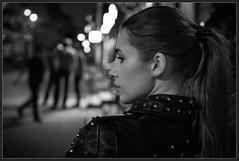 Spikes (Алекс Че) Tags: blackwhite night bw 2470 z6 nikon girl