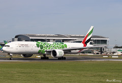 Emirates (Expo 2020 Green) 777-300(ER) A6-EPF (birrlad) Tags: dublin dub international airport ireland aircraft aviation airplane airplanes airline airliner airways airlines emirates expo 2020 livery special colour scheme decals titles boeing b777 b773 b77w 777 777300er 77731her a6epf green