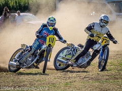 P9150234 (Mark Someville) Tags: frankyatesmemorialmeetingdauntsey15092019 frank yates memorial meeting dauntsey 15092019 grasstrack speedway wiltshire quads jap sidecars