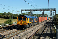 66763 Cathiron (CD Sansome) Tags: cathiron wcml west coast main line train trains gbrf gb railfreight 66 66763 shed 4m46 london gateway hams hall