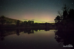 Aurora In a Pond (kevin-palmer) Tags: acme wyoming pond water reflection night sky stars starry space astronomy astrophotography clear dark mirror aurora auroraborealis northernlights geomagneticstorm green red north trees nikond750 tamron2470mmf28 sheridan astrometrydotnet:id=nova3612599 astrometrydotnet:status=failed