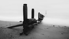 Structure (www.neilburnell.com) Tags: long exposure le muted seascape groyne detail study sea ocean water